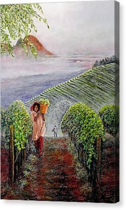 Harvest At Dawn Canvas Print