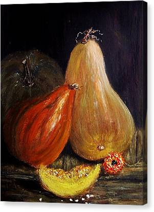 Canvas Print featuring the painting Harvest... by Cristina Mihailescu