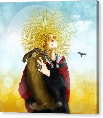 Canvas Print featuring the digital art Harvest Crone by Penny Collins