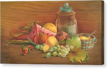 Harvest Fruit Canvas Print