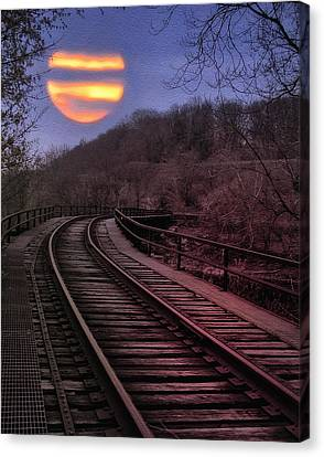 Harvest Moon Canvas Print by Bill Cannon
