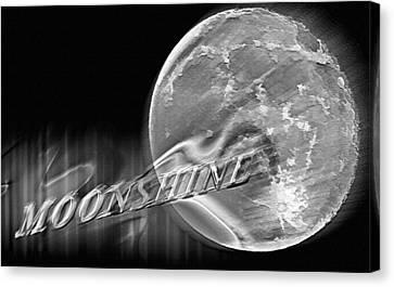 Harvest Moon - Moonshine 2 Canvas Print by Steve Ohlsen