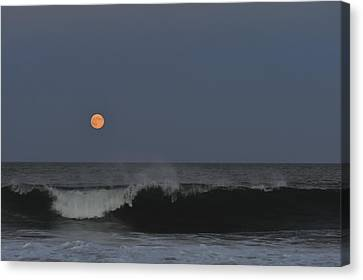 Harvest Moon Seaside Park Nj Canvas Print by Terry DeLuco