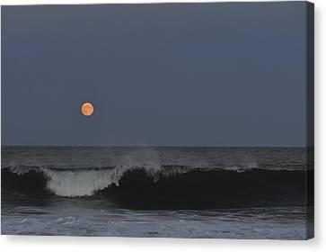 Harvest Moon Seaside Park Nj Canvas Print