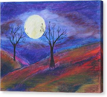 Harvest Moon 3 Canvas Print by Jeanne Fischer