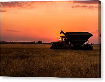 Canvas Print featuring the photograph Harvest Sunset by Jay Stockhaus