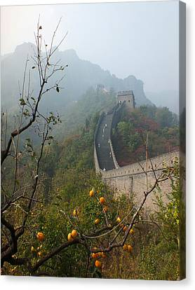 Canvas Print featuring the photograph Harvest Time At The Great Wall Of China by Lucinda Walter
