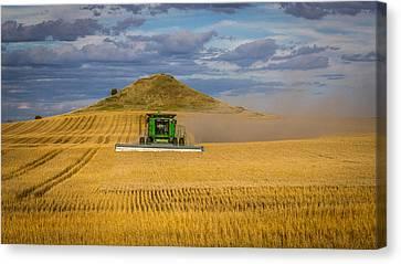 Harvest Time In North Dakota Canvas Print