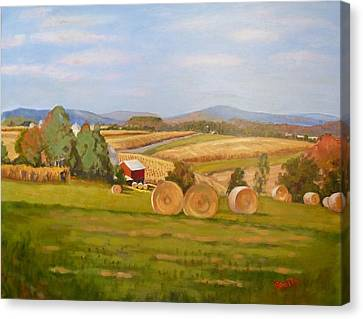 Harvest Time On Berger Hill Canvas Print