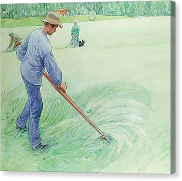 Harvesters Canvas Print by Carl Larsson