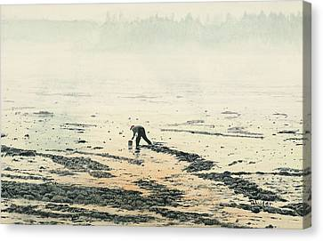 Harvesting The Flats Canvas Print by Brent Ander