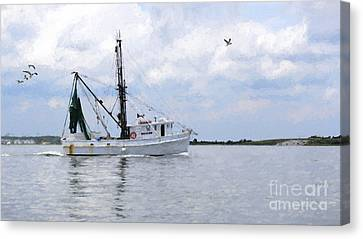 Harvesting The Waters Canvas Print