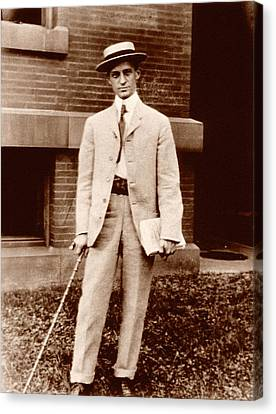 Harvey Cushing Canvas Print by National Library Of Medicine