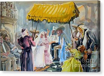 A Jewish Wedding Canvas Print