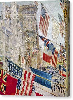 Hassam: Allies Day, May 1917 Canvas Print by Granger