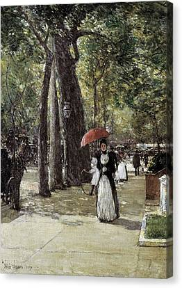 Hassam, Childe 1859-1935. Fifth Avenue Canvas Print by Everett