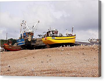 Hastings Fishing Boats Canvas Print