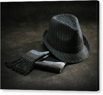 Canvas Print featuring the photograph Hat And Scarf by Krasimir Tolev