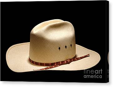 Hat On Black Canvas Print by Olivier Le Queinec