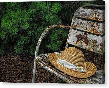 Hat On Chair1 Canvas Print by Tom  Reed