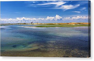 New England Lighthouse Canvas Print - Hatches Harbor by Bill Wakeley