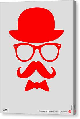 Hats Glasses And Mustache Poster 3 Canvas Print by Naxart Studio