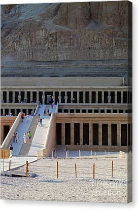 Hatshepsut Temple 03 Canvas Print by Antony McAulay