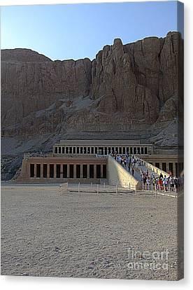 Hatshepsut Temple 06 Canvas Print by Antony McAulay