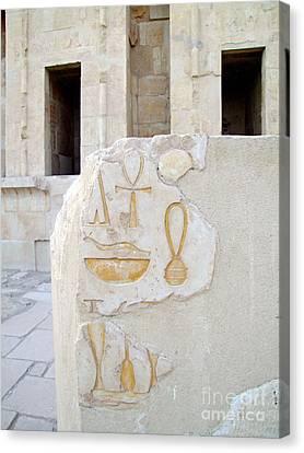 Hatshepsut Temple 12 Canvas Print by Antony McAulay
