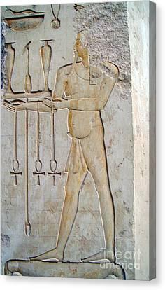 Hatshepsut Temple 13 Canvas Print by Antony McAulay