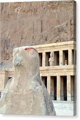 Hatshepsut Temple 14 Canvas Print by Antony McAulay
