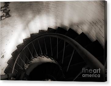 Canvas Print featuring the photograph Hatteras Staircase by Angela DeFrias