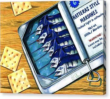 Hatteras Style Mardines Canvas Print by Karen Rhodes