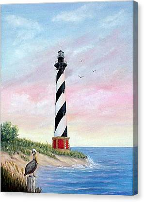 Hatteras Sunrise Canvas Print by Fran Brooks