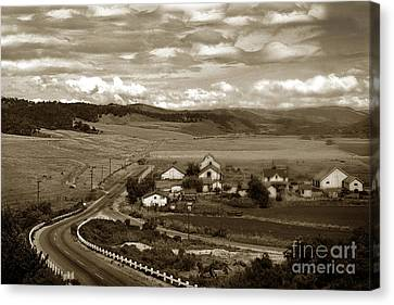 Hatton Ranch Carmel Valley From Highway One California  1940 Canvas Print by California Views Mr Pat Hathaway Archives