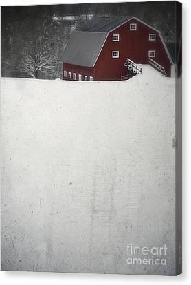 Haunted Barn Canvas Print by Edward Fielding