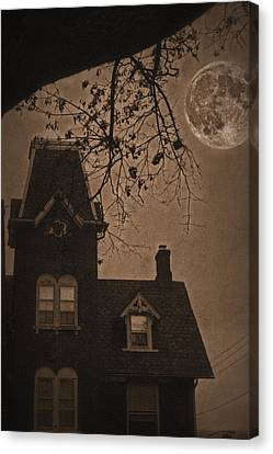 Haunted Canvas Print by DJ Florek
