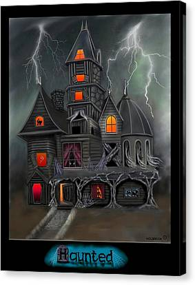 Haunted Canvas Print by Glenn Holbrook