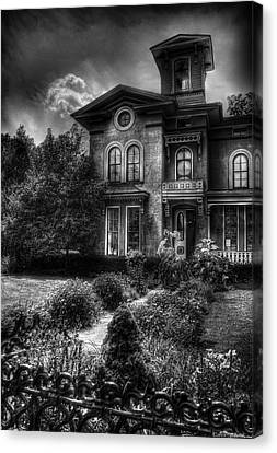 Haunted - Haunted House Canvas Print by Mike Savad
