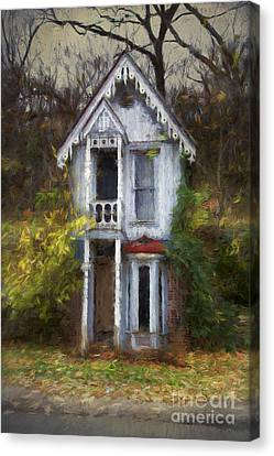 Haunted House Canvas Print by Elena Nosyreva