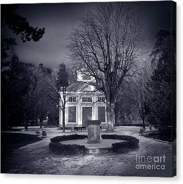 Haunted House Canvas Print by Michal Bednarek