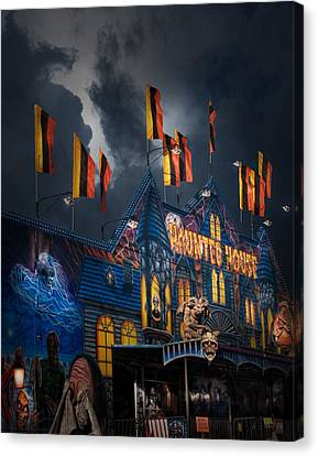Haunted House Canvas Print - Haunted House On The Midway by David and Carol Kelly