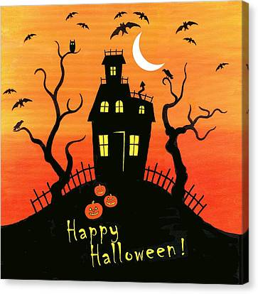 Haunted House Part One Canvas Print by Linda Mears