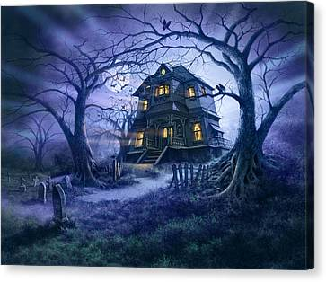 Haunted House Variant 1 Canvas Print by Steve Read