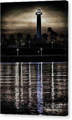Haunted Lighthouse Canvas Print by Mariola Bitner