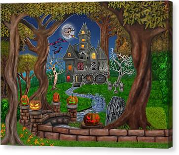 Haunted Mansion Canvas Print by Glenn Holbrook