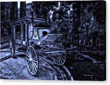Haunted Mansion Hearse At Midnight New Orleans Disneyland Canvas Print by Thomas Woolworth