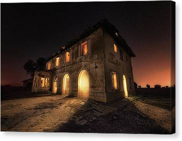 Haunted House Canvas Print - Haunted Mansion by Iv?n Ferrero