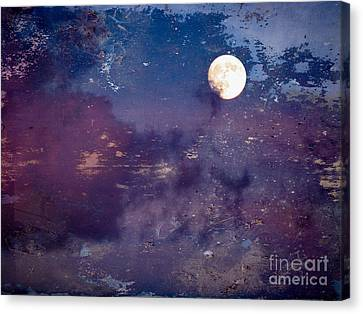 Haunted Moon Canvas Print by Roselynne Broussard