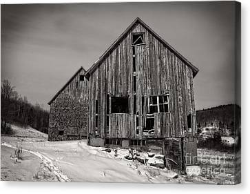 Haunted Old Barn Canvas Print by Edward Fielding